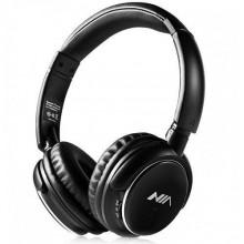Беспроводные Bluetooth стерео наушники NIA Q1S с МР3 и FM черные