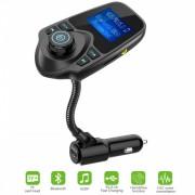 FM-трансмиттер T10S модулятор Bluetooth Handsfree TF / Micro SD AUX 1.44 Экран черный