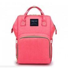 Сумка-рюкзак для мам Baby Mo Розовая (LX-583428)