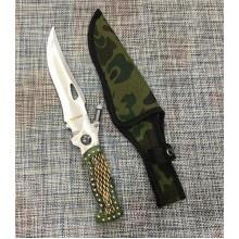 Большой нескладной нож 29см с компасом, фонариком и чехлом Colunbir Н73