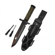 Охотничий Антибликовый нож 32 см CL 252X2 + Огниво + Чехол с компасом (00000XS2528BX2)