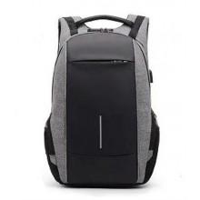 """Рюкзак Cord """"Антивор"""" с Кодовой системой (Оригинал) / Черно-Серый / 20 литpов / 46х28х12 см / С разъемом: AUX/USB / Лямки распределяющие нагрузку"""