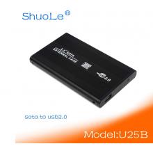 Внешний карман ShuoleUSB 2.0 для SATA HDD 2.5 (Черный)