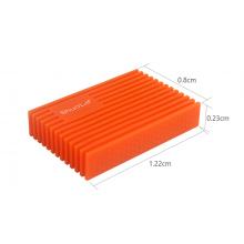 Внешний карман Shuole siliconeUSB 3.0 SATA HDD 2.5 оригинал (Оранжевый) с СУПЕРЗАЩИТОЙ от Падений!