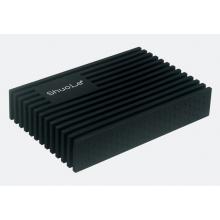Внешний карман Shuole siliconeUSB 3.0 SATA HDD 2.5 оригинал (Черный) с СУПЕРЗАЩИТОЙ от Падений!