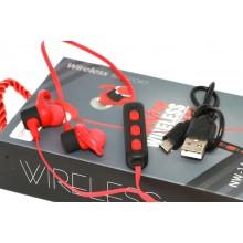 Беспроводные Bluetooth Наушники Wireless Sport NW-14 Красные