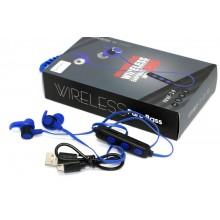 Беспроводные Bluetooth Наушники Wireless Sport NW-14 Синие