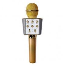 Беспроводной портативный микрофон для караоке Wster WS-1688 Оригинал Gold (USB/Bluetooth/AUX)