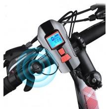 Велофара Bicycle Lamp  Влагостойкая + Спидометр + Сигнал